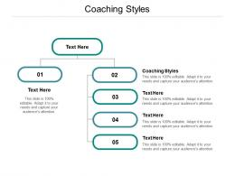 Coaching Styles Ppt Powerpoint Presentation Styles Diagrams Cpb