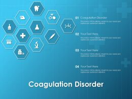 Coagulation Disorder Ppt Powerpoint Presentation Show Demonstration