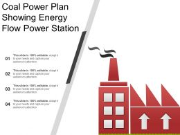 Coal Power Plan Showing Energy Flow Power Station