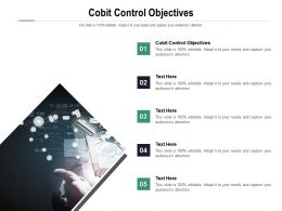 Cobit Control Objectives Ppt Powerpoint Presentation Gallery Styles Cpb