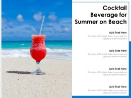 Cocktail Beverage For Summer On Beach