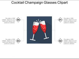 Cocktail Champaign Glasses Clipart