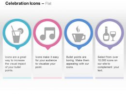 Cocktail Party Music Coffee Liquor Ppt Icons Graphics