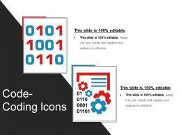 Code Coding Icons