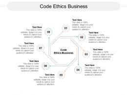 Code Ethics Business Ppt Powerpoint Presentation Summary Files Cpb