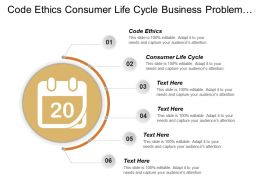 Code Ethics Consumer Life Cycle Business Problem Solving Cpb