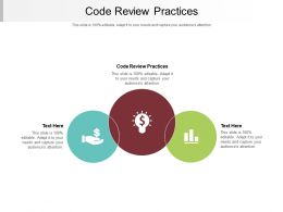 Code Review Practices Ppt Powerpoint Presentation Ideas Cpb