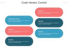 Code Version Control Ppt Powerpoint Presentation File Graphic Images Cpb