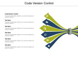 Code Version Control Ppt Powerpoint Presentation Ideas Templates Cpb