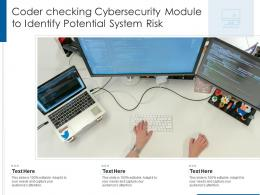 Coder Checking Cybersecurity Module To Identify Potential System Risk