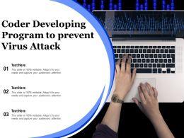 Coder Developing Program To Prevent Virus Attack