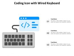 Coding Icon With Wired Keyboard