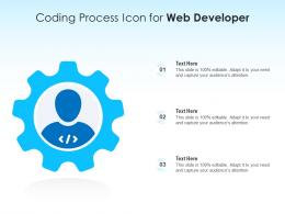 Coding Process Icon For Web Developer