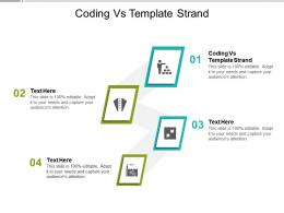 Coding Vs Template Strand Ppt Powerpoint Presentation Professional Grid Cpb