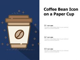 Coffee Bean Icon On A Paper Cup