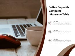 Coffee Cup With Computer Mouse On Table