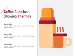 Coffee Cups Icon Showing Thermos