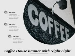 Coffee House Banner With Night Light