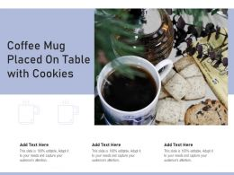 Coffee Mug Placed On Table With Cookies