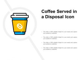 Coffee Served In A Disposal Icon