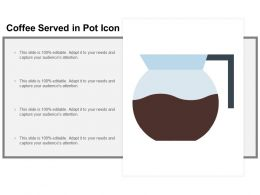 Coffee Served In Pot Icon