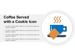 Coffee Served With A Cookie Icon