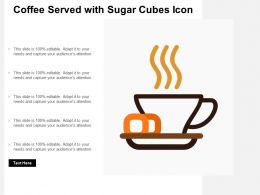 Coffee Served With Sugar Cubes Icon