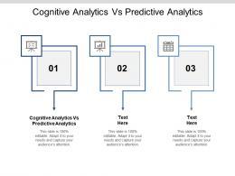 Cognitive Analytics Vs Predictive Analytics Ppt Powerpoint Presentation Gallery Master Slide Cpb