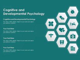 Cognitive And Developmental Psychology Ppt Powerpoint Presentation Inspiration Portfolio