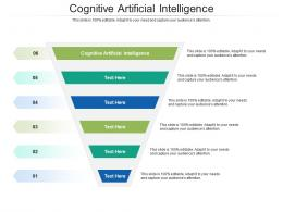 Cognitive Artificial Intelligence Ppt Powerpoint Presentation Icon Clipart Cpb
