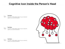 Cognitive Icon Inside The Persons Head