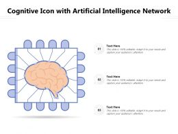 Cognitive Icon With Artificial Intelligence Network