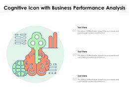 Cognitive Icon With Business Performance Analysis
