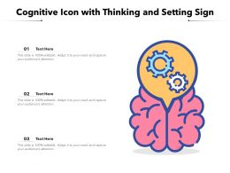 Cognitive Icon With Thinking And Setting Sign