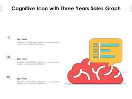 Cognitive Icon With Three Years Sales Graph