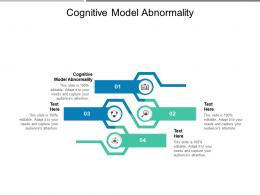 Cognitive Model Abnormality Ppt Powerpoint Presentation Design Templates Cpb