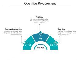 Cognitive Procurement Ppt Powerpoint Presentation Outline Pictures Cpb