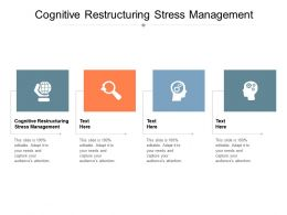 Cognitive Restructuring Stress Management Ppt Powerpoint Presentation Slides Format Ideas Cpb