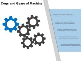 26911806 Style Variety 1 Gears 5 Piece Powerpoint Presentation Diagram Infographic Slide