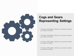Cogs And Gears Representing Settings