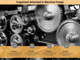 Cogwheel Attached In Machine Image