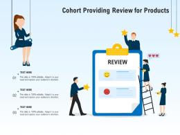 Cohort Providing Review For Products