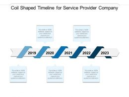 Coil Shaped Timeline For Service Provider Company