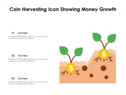 Coin Harvesting Icon Showing Money Growth