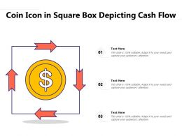 Coin Icon In Square Box Depicting Cash Flow