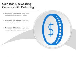 Coin Icon Showcasing Currency With Dollar Sign
