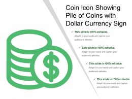 Coin Icon Showing Pile Of Coins With Dollar Currency Sign