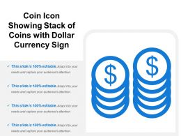 Coin Icon Showing Stack Of Coins With Dollar Currency Sign