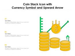 Coin Stack Icon With Currency Symbol And Upward Arrow