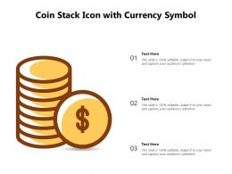 Coin Stack Icon With Currency Symbol